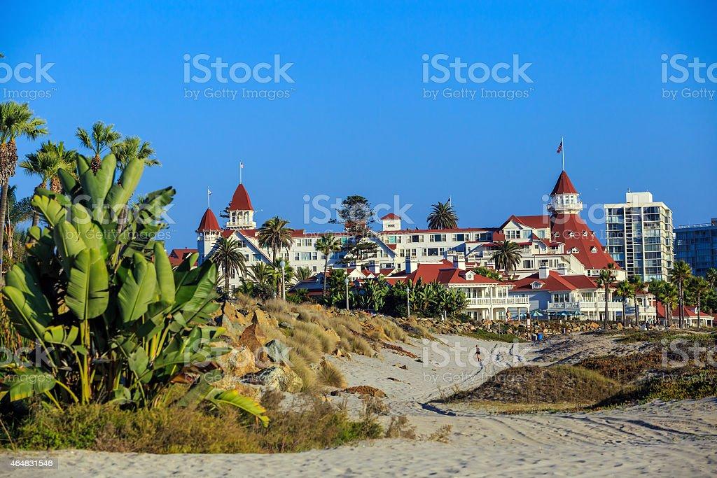 Victorian Hotel del Coronado on in San Diego stock photo
