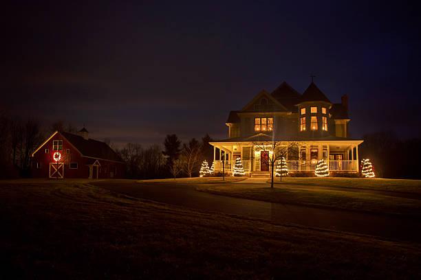 Viktorianischen Haus an Weihnachten – Foto
