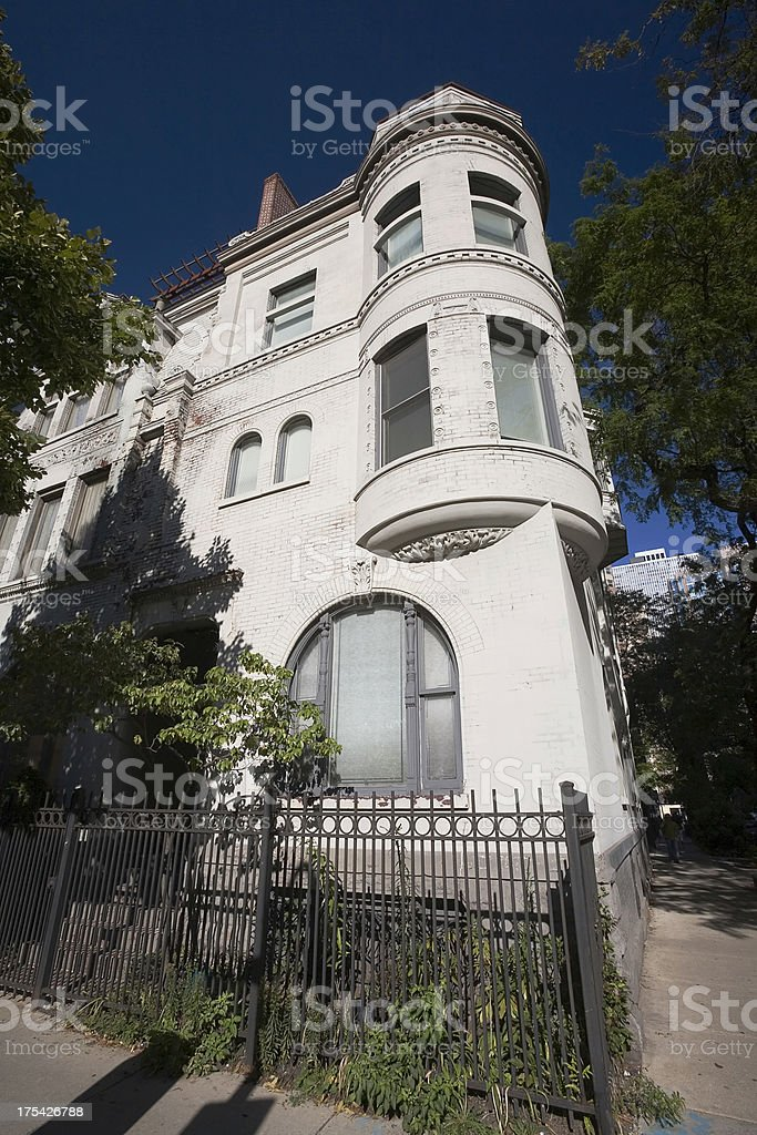 Victorian House, Downtown Chicago royalty-free stock photo
