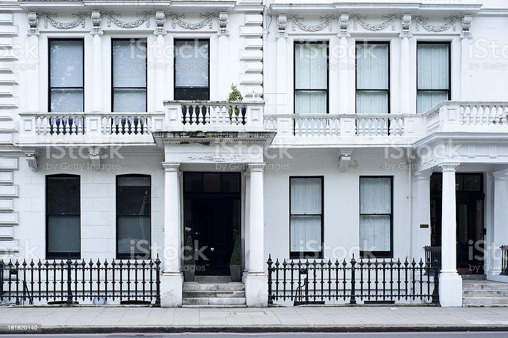 Victorian house facade in London stock photo