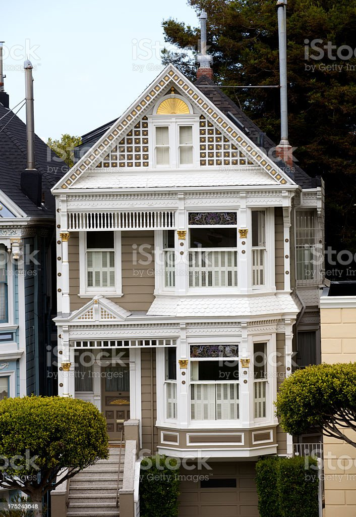 Victorian House from Alamo Square. royalty-free stock photo