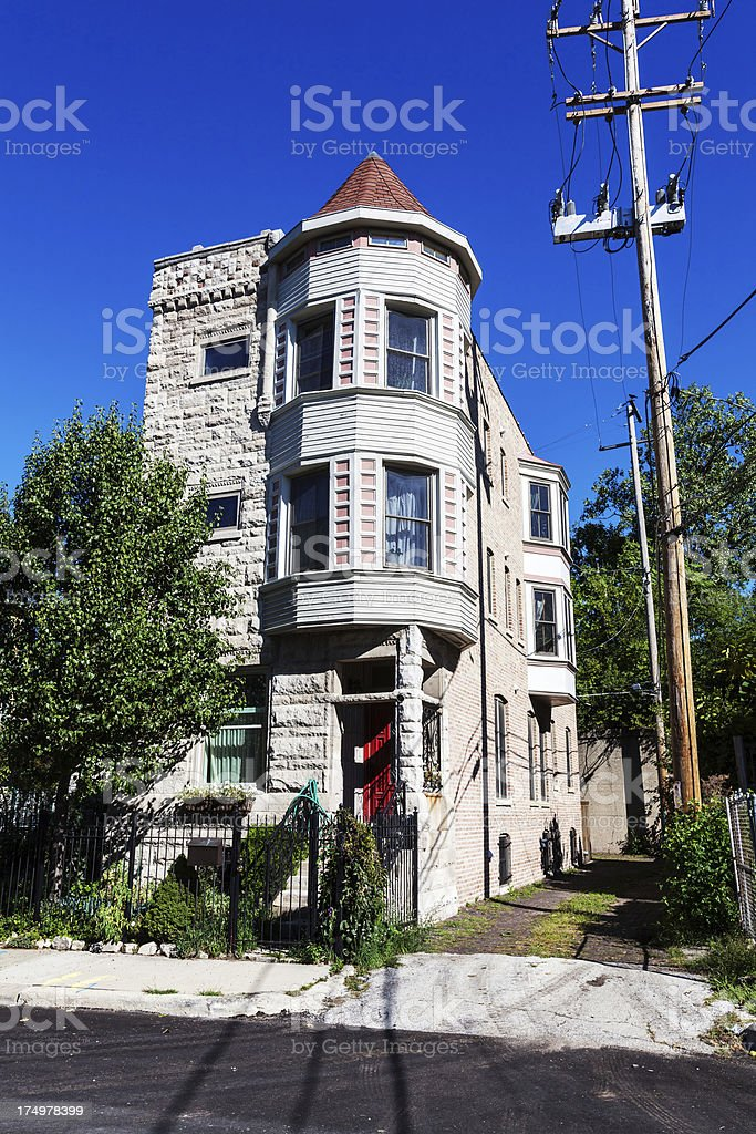 Victorian House in Oakland, Chicago royalty-free stock photo