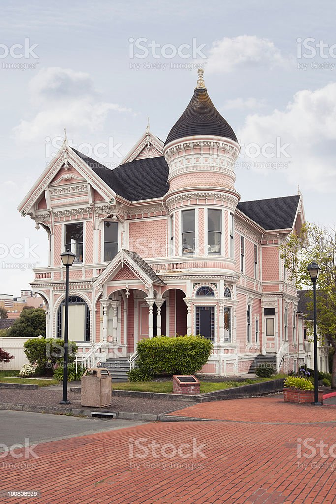 Victorian house stock photo