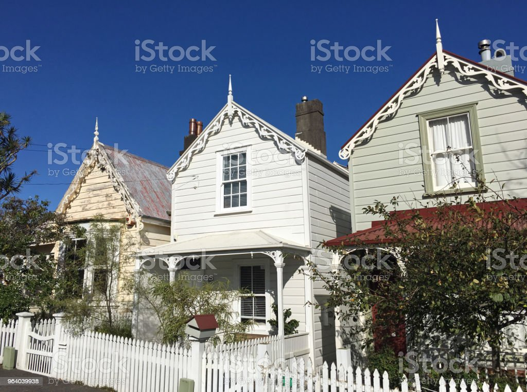 Victorian houses in Auckland New Zealand - Royalty-free Architecture Stock Photo