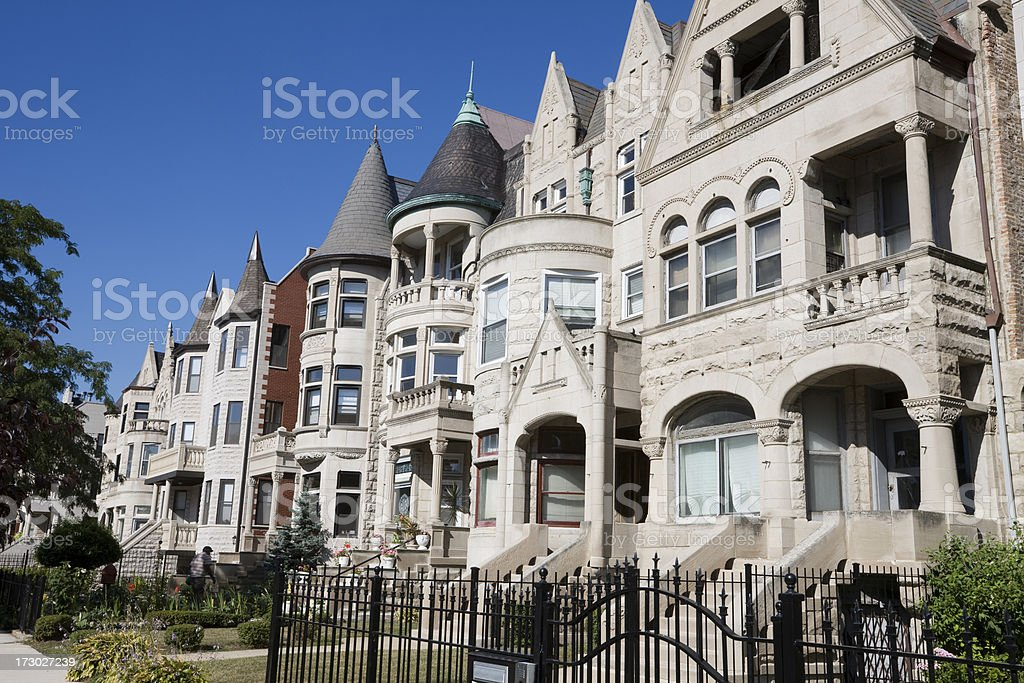 Victorian Houses in Chicago royalty-free stock photo