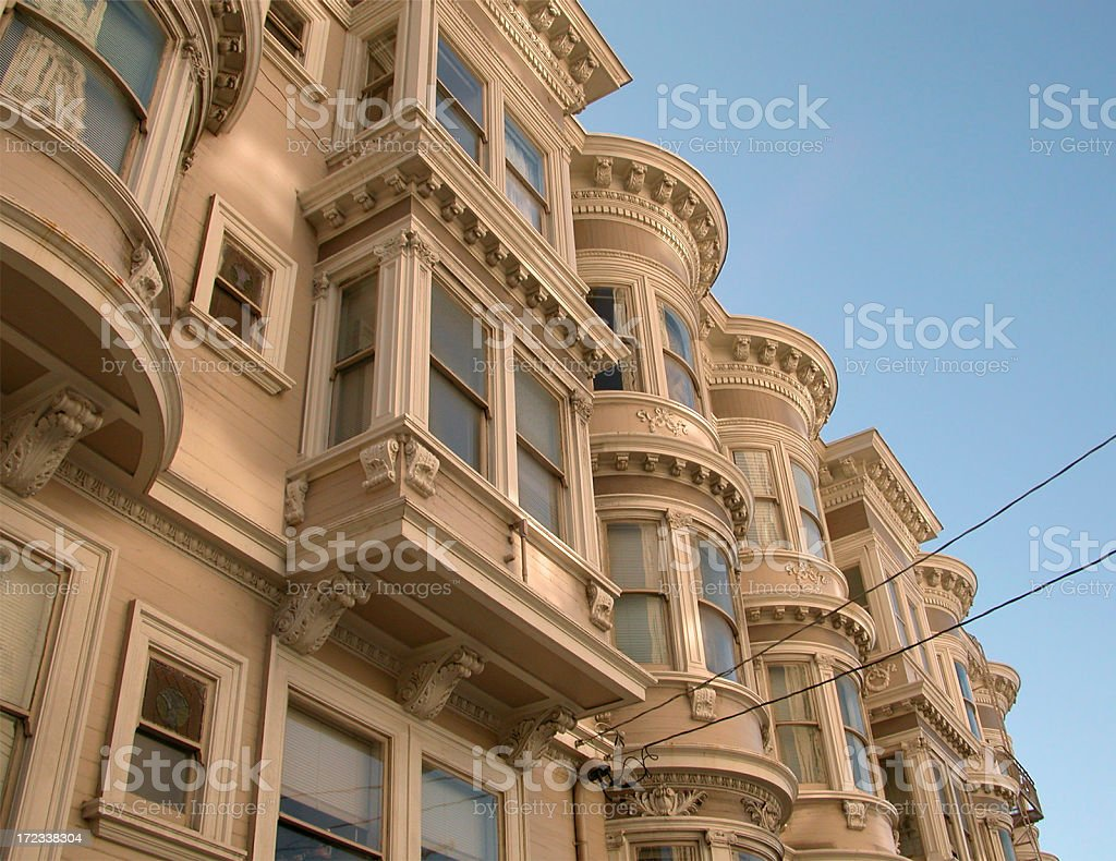 victorian houses in san francisco royalty-free stock photo
