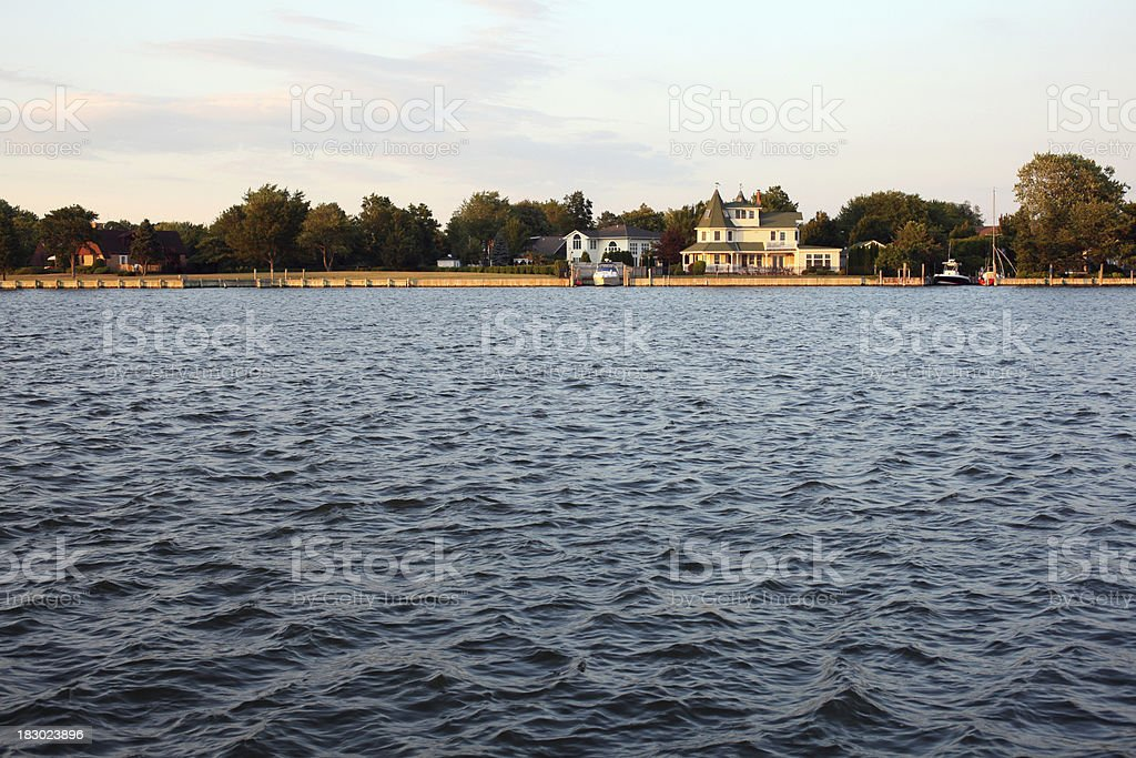 Victorian Houses on the Water royalty-free stock photo