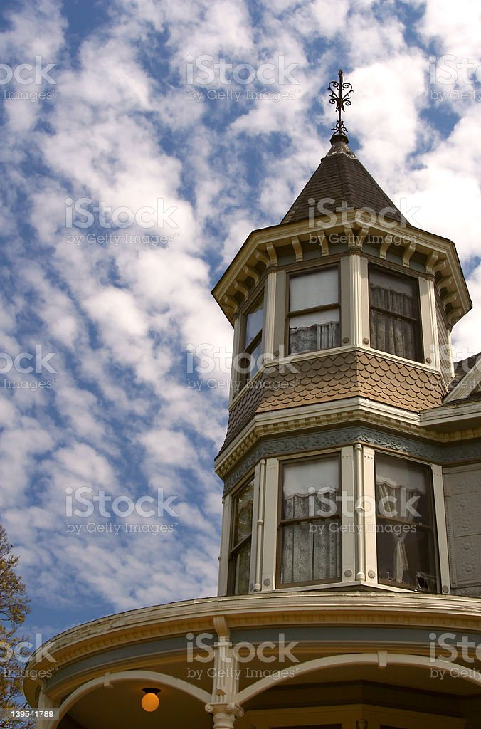 Victorian in the Sky royalty-free stock photo