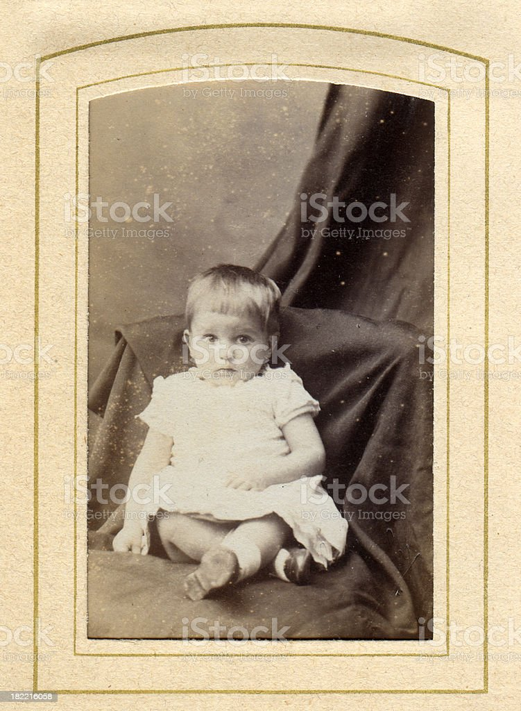 Victorian Infant Old Photograph stock photo