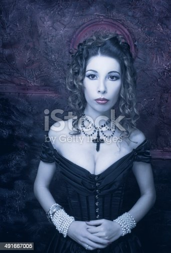 istock Victorian lady. 491667005