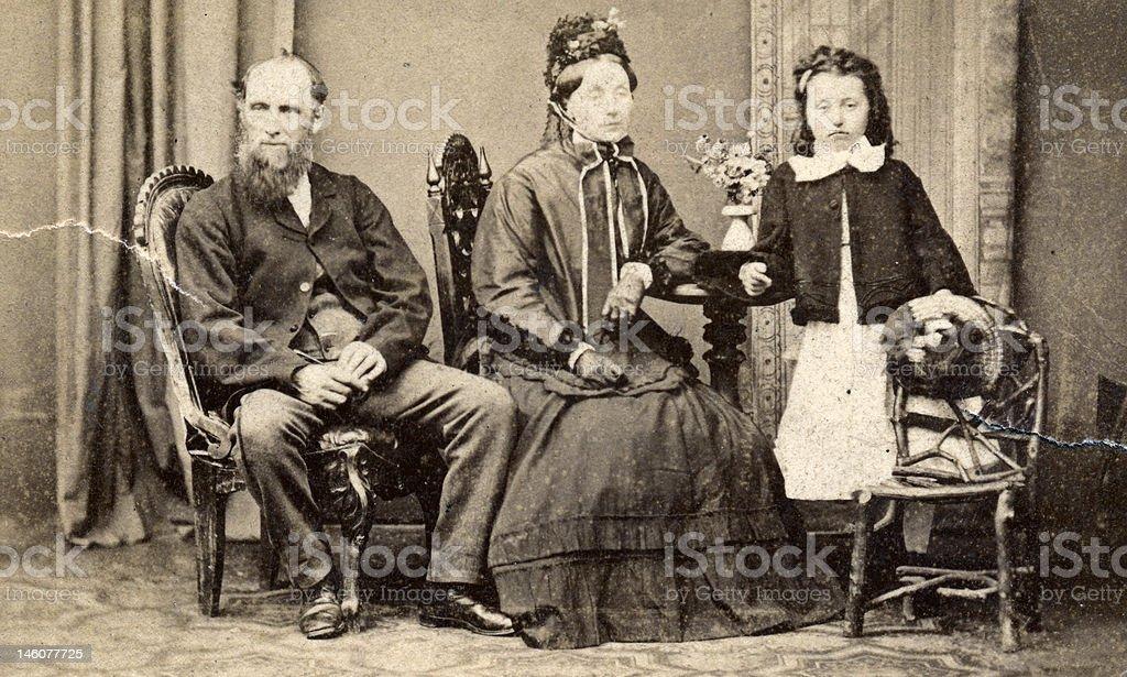 Victorian Lifestyle - family portrait royalty-free stock photo