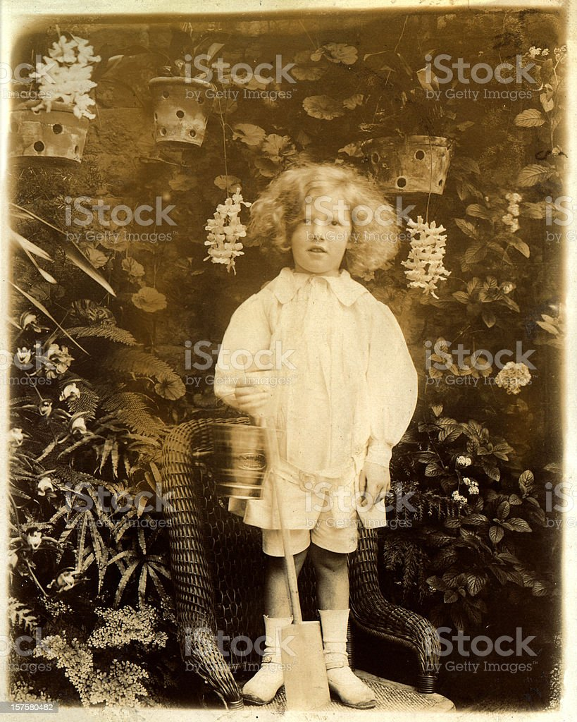 Victorian little boy stock photo