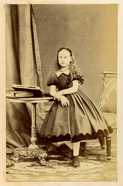 victorian little girl - petticoat stock pictures, royalty-free photos & images