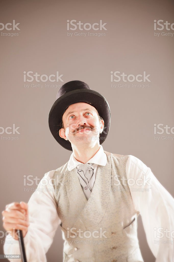 Victorian man with a top hat royalty-free stock photo