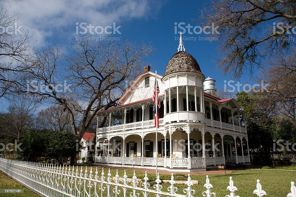 Victorian mansion in Gruene, Texas royalty-free stock photo