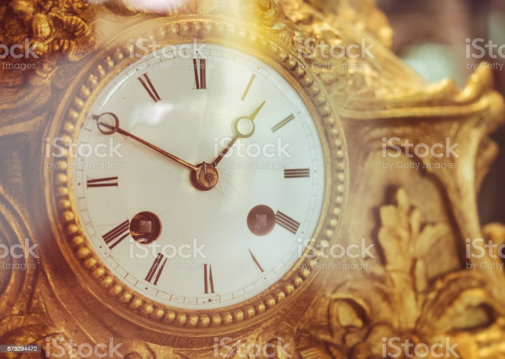 Victorian Old Clock Face with Roman Numerals royalty-free stock photo