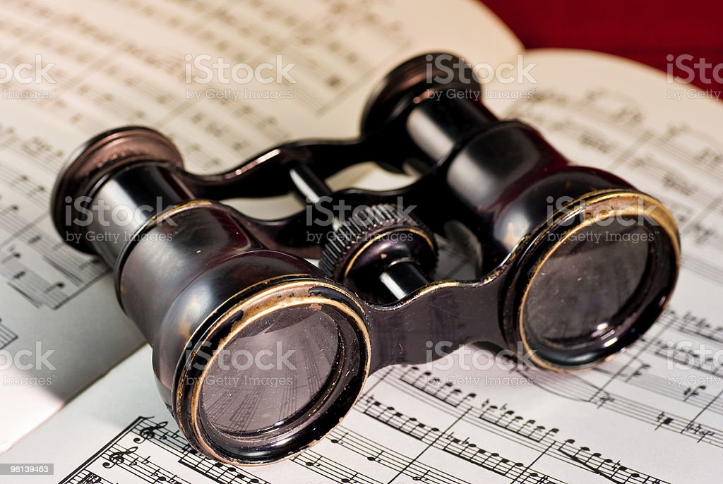 Victorian opera glasses royalty-free stock photo