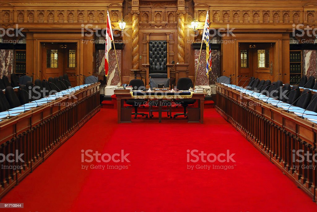 Victorian Parliament stock photo