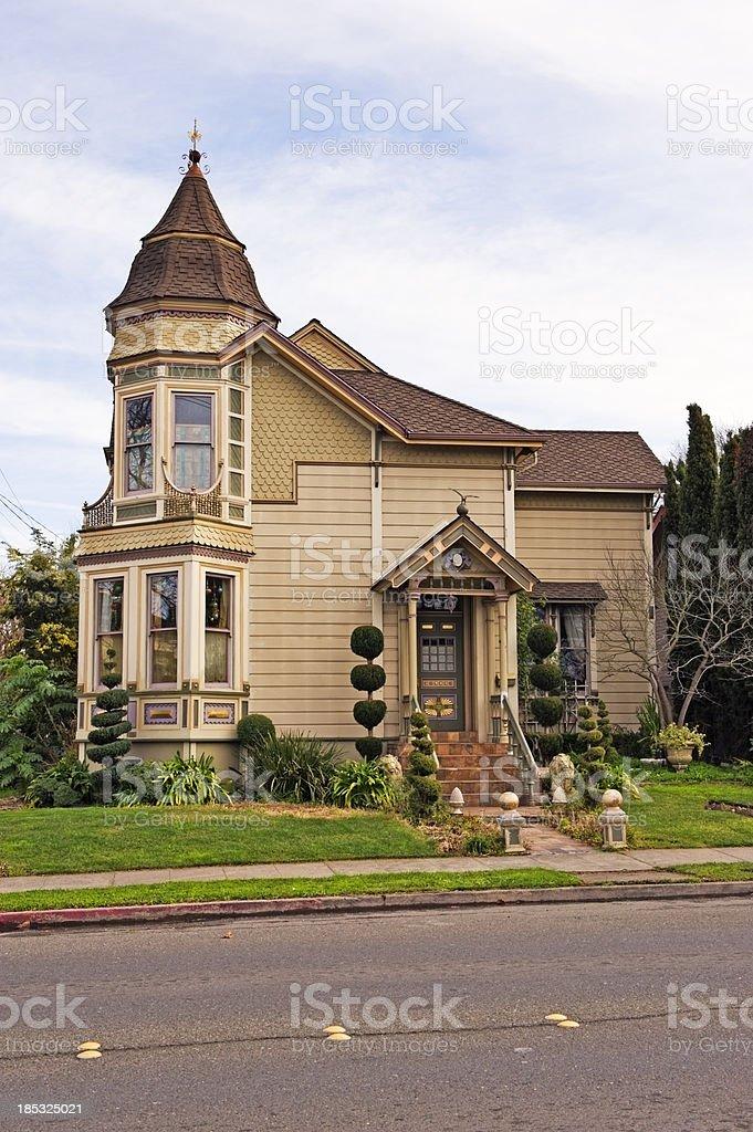 Victorian Petaluma Home 3 stock photo