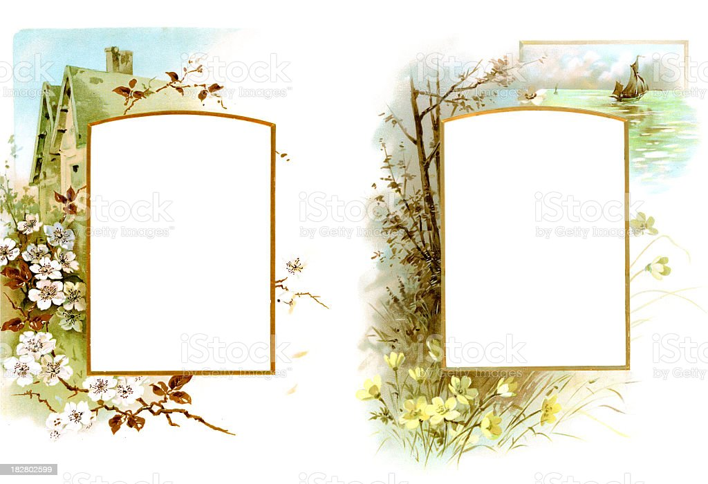 Victorian Picture Frame royalty-free stock photo