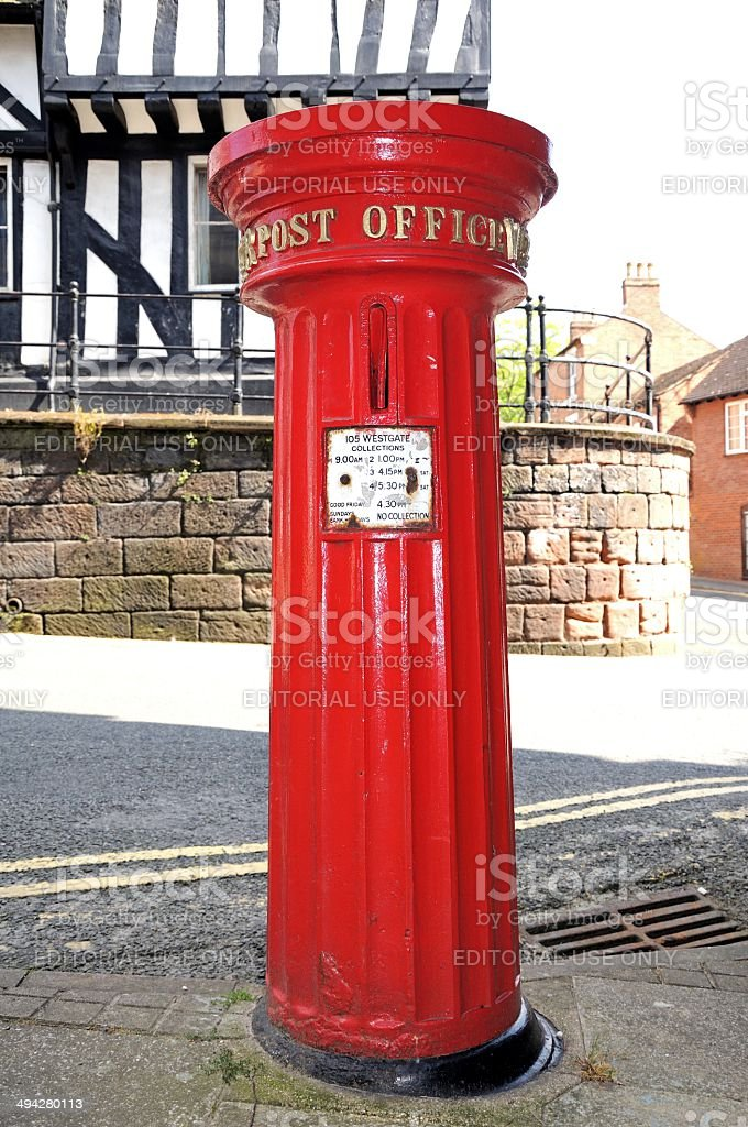 Victorian postbox, Warwick. royalty-free stock photo