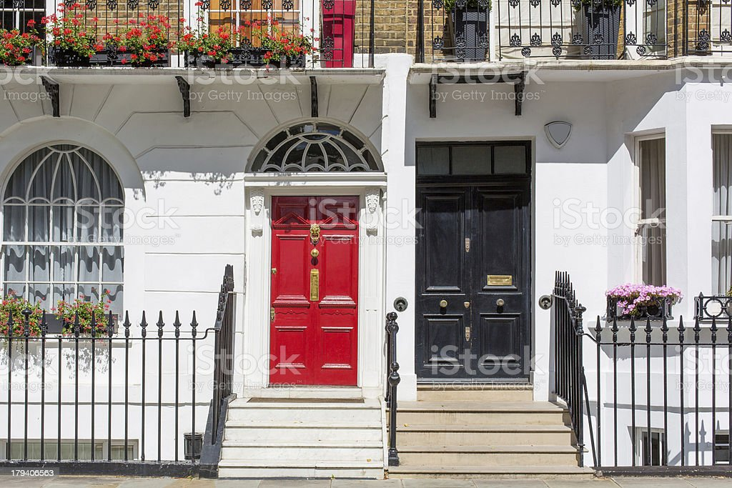Victorian Property in London, England stock photo