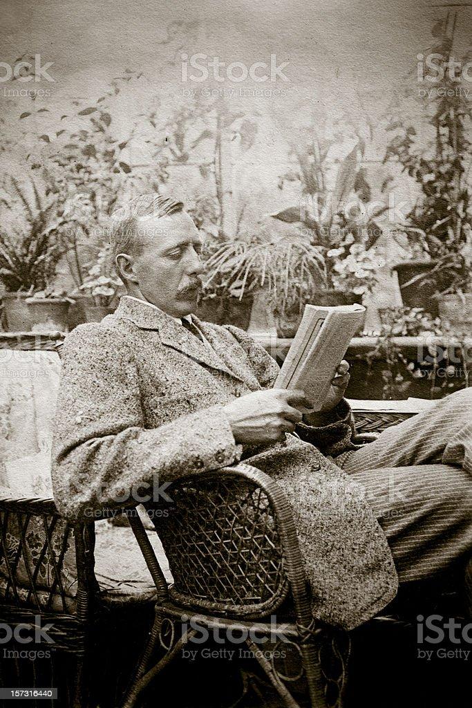 Victorian reader royalty-free stock photo