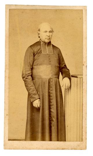 Vintage photograph circa 1880 of a Roman Catholic Priest
