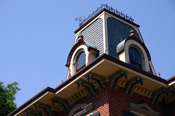Victorian Roof stock photo
