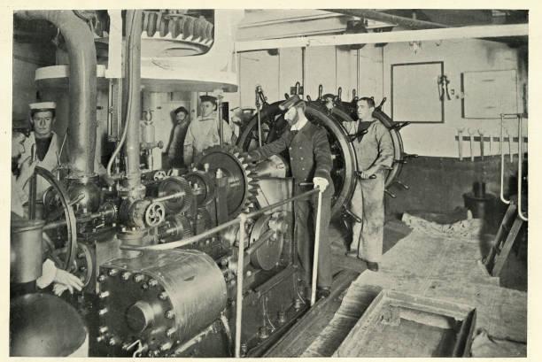 Victorian Royal Navy, Dampflenkung, HMS Resolution, 19. Jahrhundert – Foto