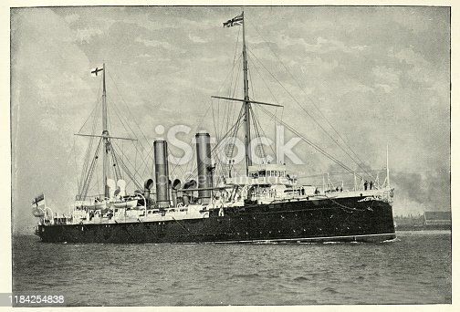 istock Victorian Royal Navy warship, HMS Royal Arthur 1184254838