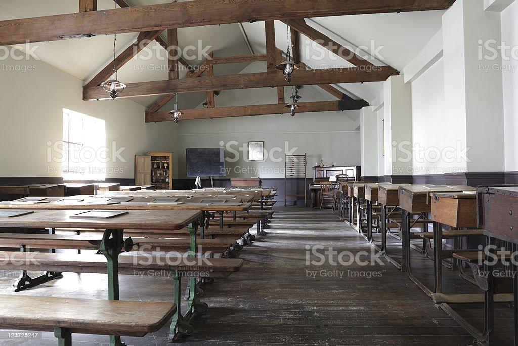 Victorian school classroom stock photo
