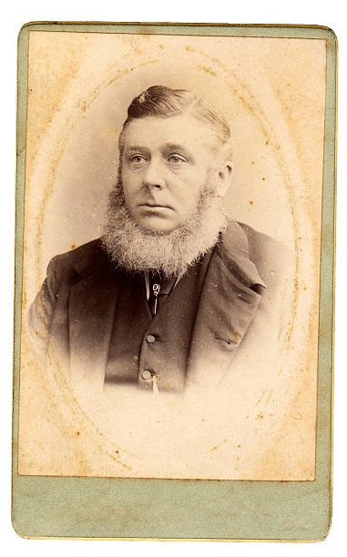 victorian senior mann - krawattennadel stock-fotos und bilder