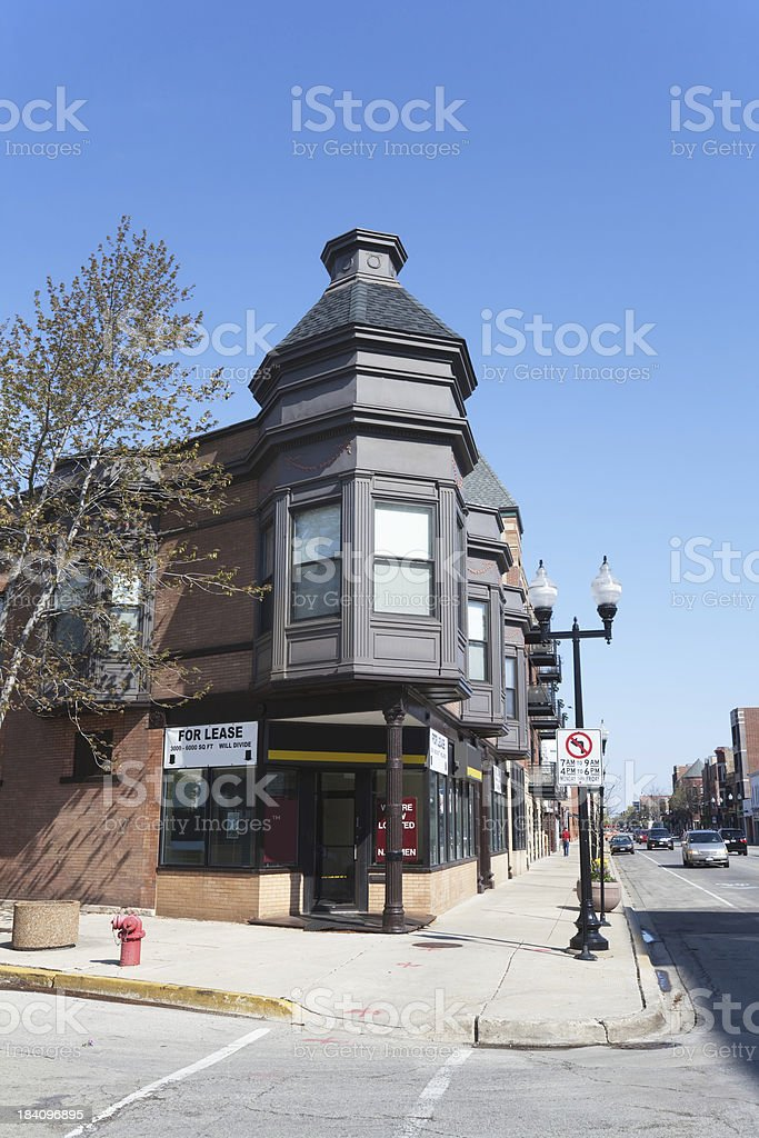 Victorian Shop in North Center, Chicago royalty-free stock photo