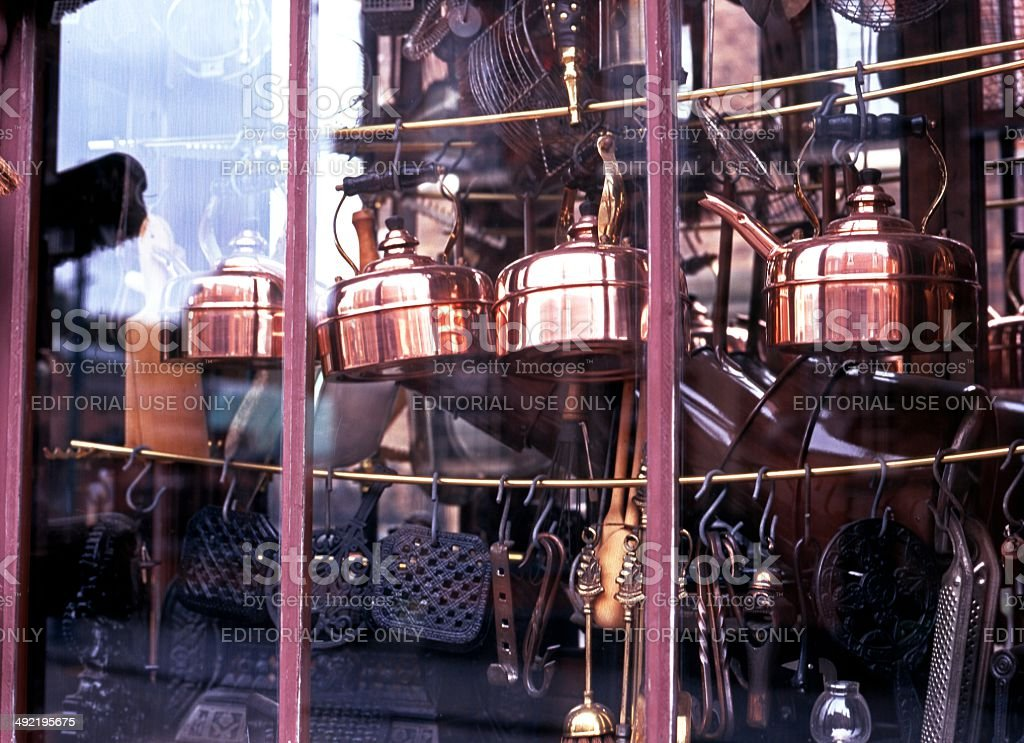 Victorian shop window, Black Country Living Museum stock photo
