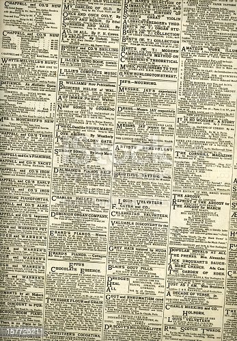 1070355804 istock photo Victorian small ads from 1882 157725211
