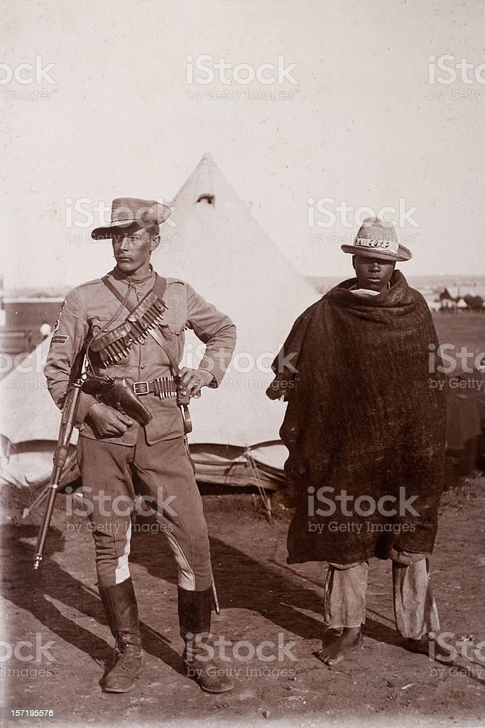 Victorian Soldier stock photo