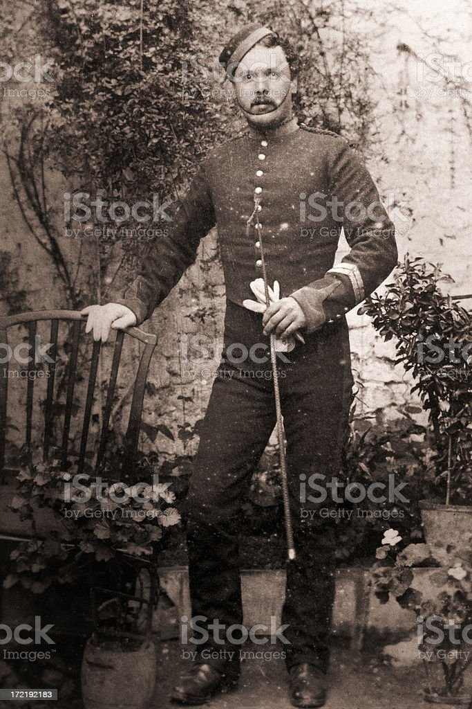 Victorian solider stock photo