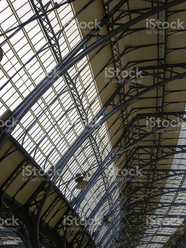 Victorian Station Roof royalty-free stock photo