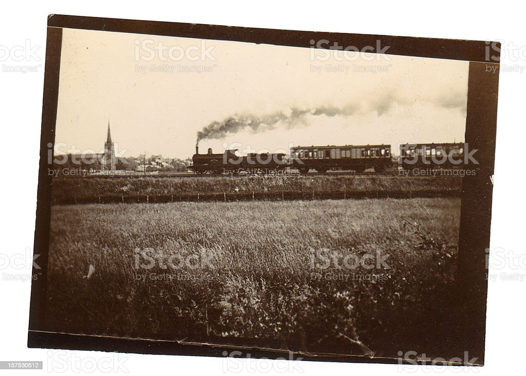 Victorian Steam Train stock photo