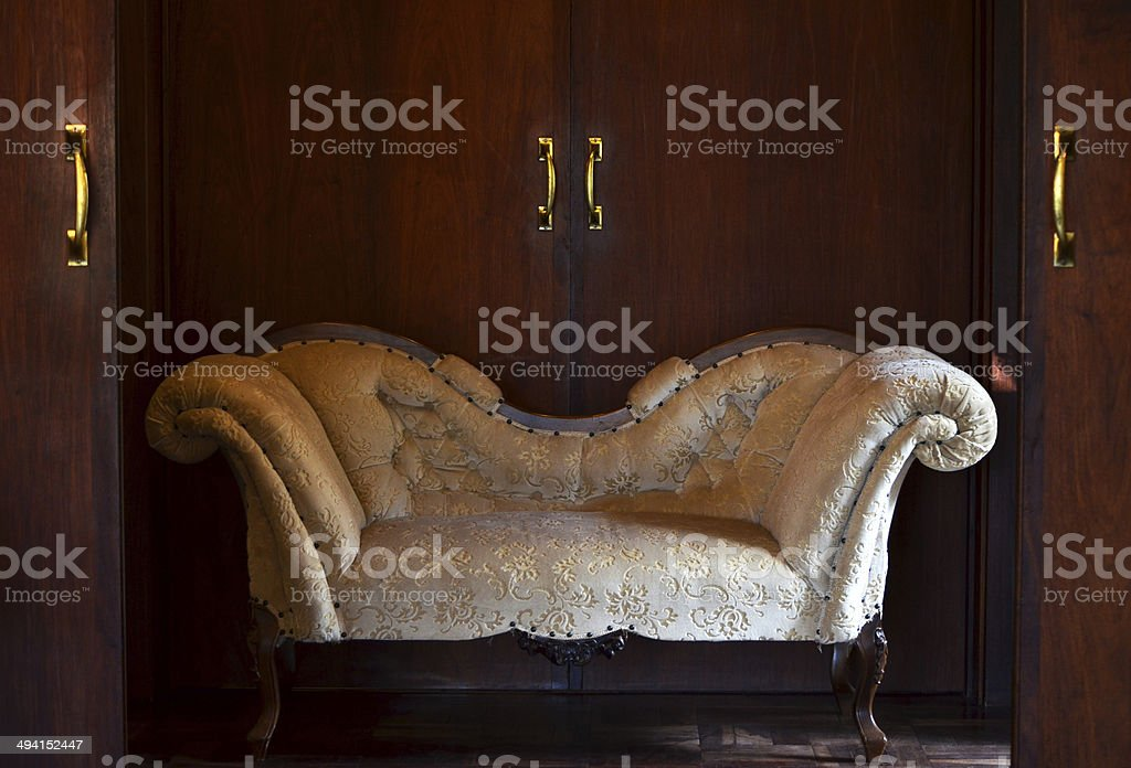 Victorian style couch stock photo