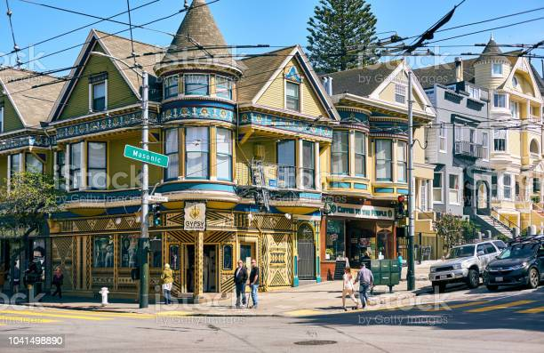 Victorian Style Homes In San Francisco Stock Photo - Download Image Now