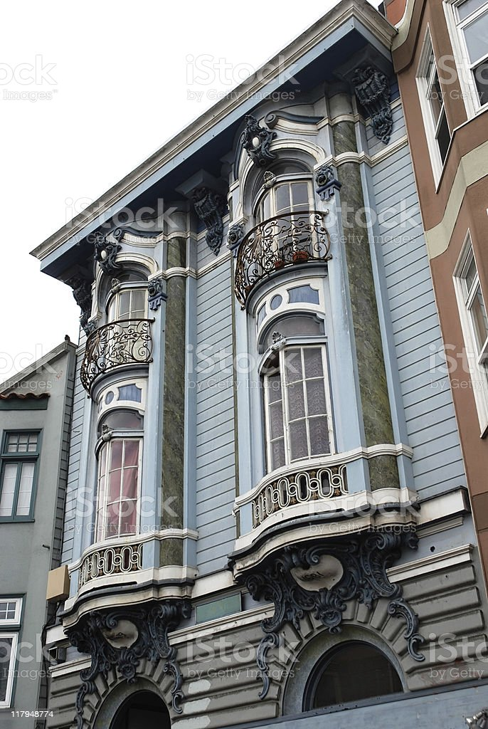 Victorian style in San Francisco royalty-free stock photo