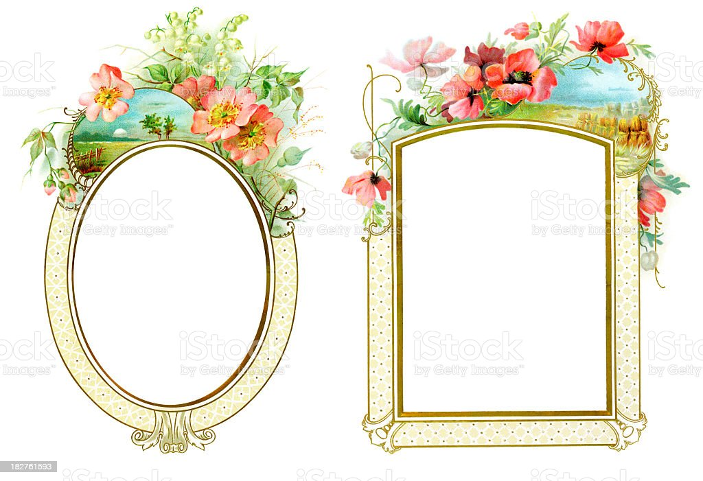 Victorian style picture frames royalty-free stock photo