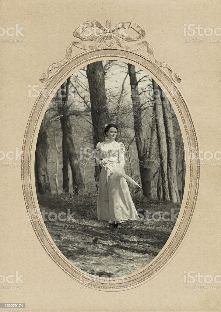Victorian Style. Walk. royalty-free stock photo