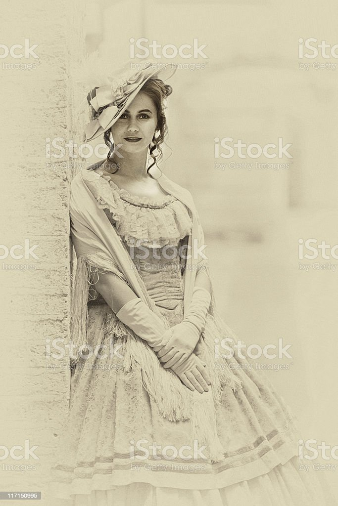Victorian styled woman foto