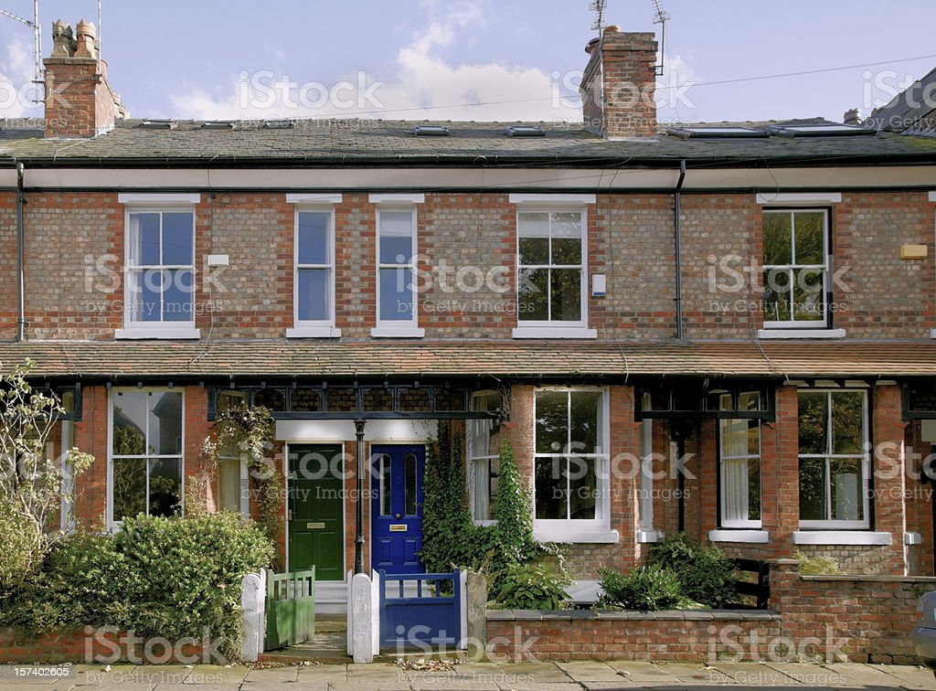 Victorian Terrace, Didsbury, Manchester, UK-More buildings exteriors below stock photo