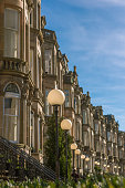 Grand Tenement Apartments on a Residential Street in Glasgow