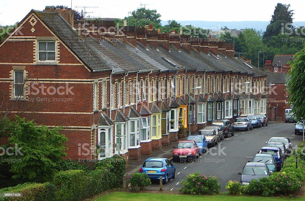 Victorian Terrace stock photo