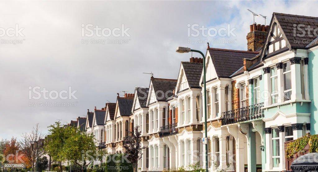 Casas Victorianas En Terrazas En El Norte De Londres Foto De